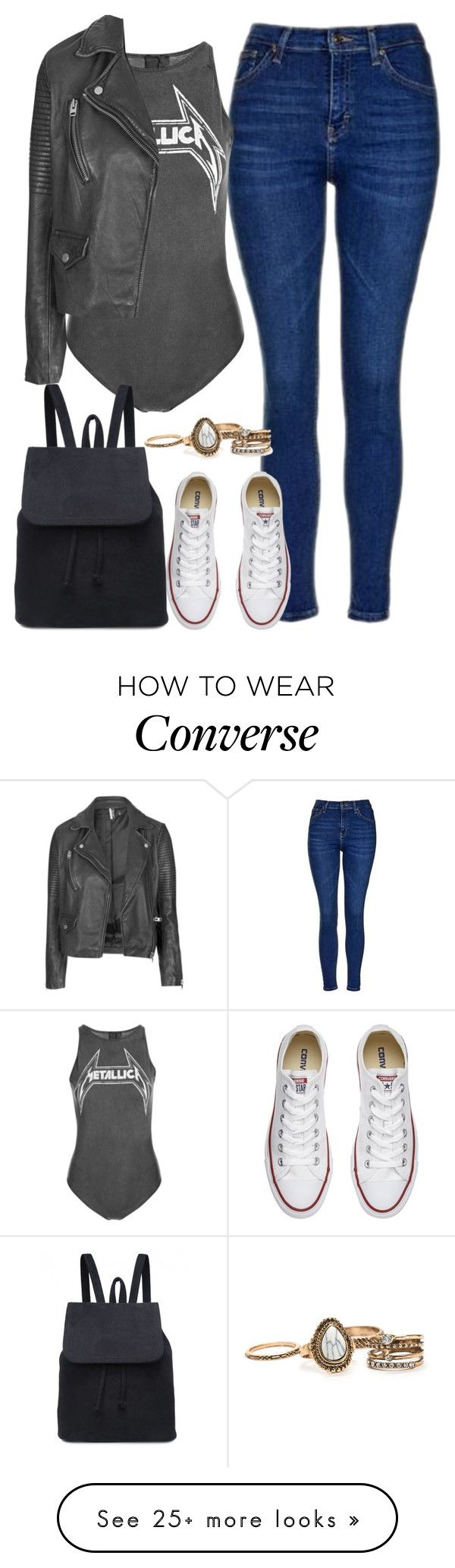 """x"" by welove1 on Polyvore featuring Topshop and Converse"