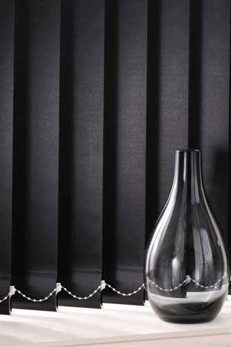 Stylish black vertical blinds – blindsonline.net.nz