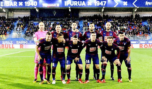 EQUIPOS DE FÚTBOL  EIBAR contra Atlético de Madrid 13 01 2018 Liga de ec4a30303892b