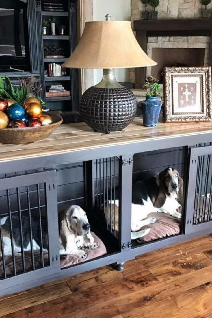 BB Kustom Kennels | Double Doggie Den | Dog furniture, Dog