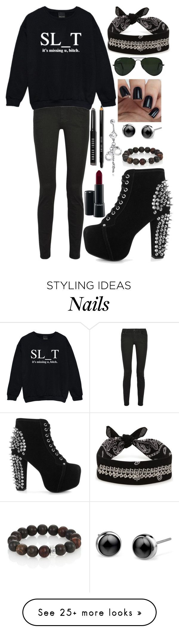 """""""Arzaylea Fight"""" by never-ending-dreamer on Polyvore featuring Bobbi Brown Cosmetics, Ray-Ban, Proenza Schouler, Kale, Fallon, Jeffrey Campbell, MAC Cosmetics, Nest and Bling Jewelry"""