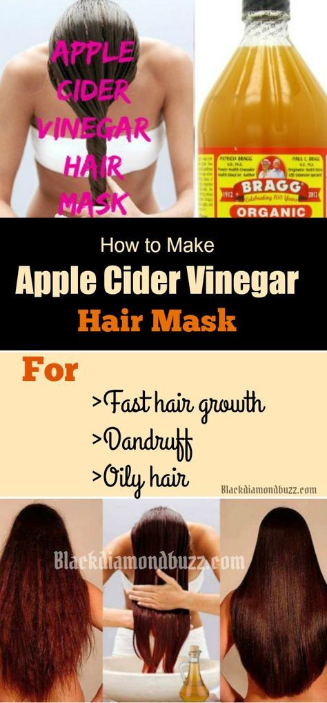 How to Make Apple Cider Vinegar Hair Mask for Hair Growth ,Dandruff and Oily Hair. You can even add a small quantity of coconut oil and baking soda for better results.
