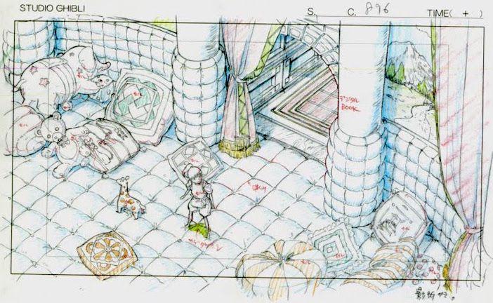 Film: Spirited Away (千と千尋の神隠し) ===== Layout Design - Scene: A Baby's Room? ===== Hayao Miyazaki