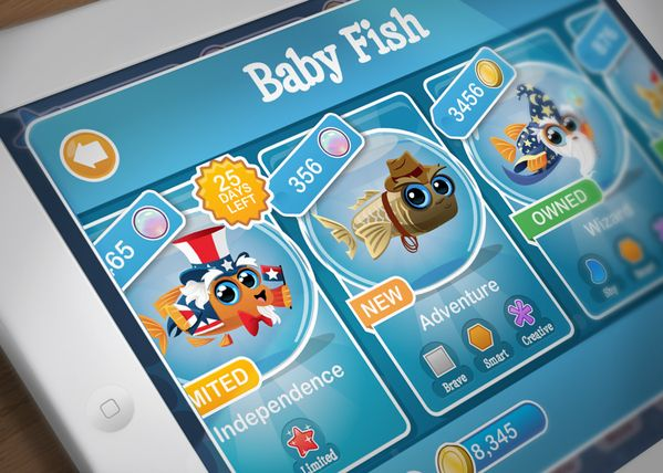 Fish With Attitude - UX/UI by Nick Barfuss, via Behance