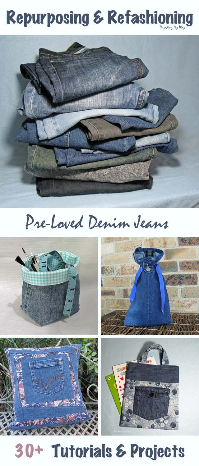 30+ Projects to Refashion, Upcycle & Repurpose Denim Jeans