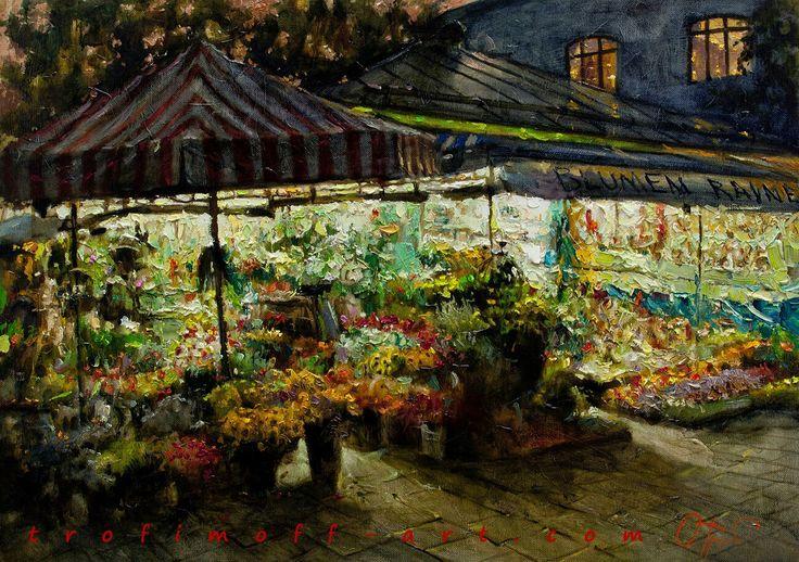 Flower Market by Oleg Trofimoff