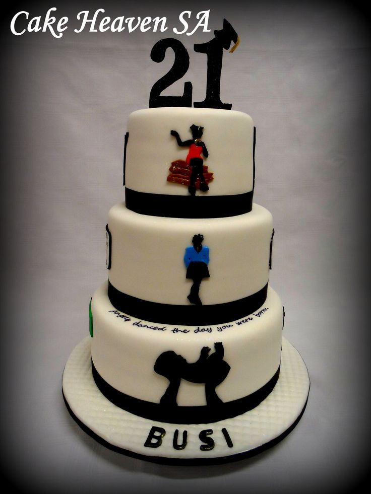 21st Birthday Silhouette Cake