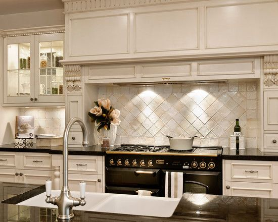 Great Pictures of French Provincial Kitchens : Pictures Of French Provincial Kitchens With White Cabinets And Wainscoting
