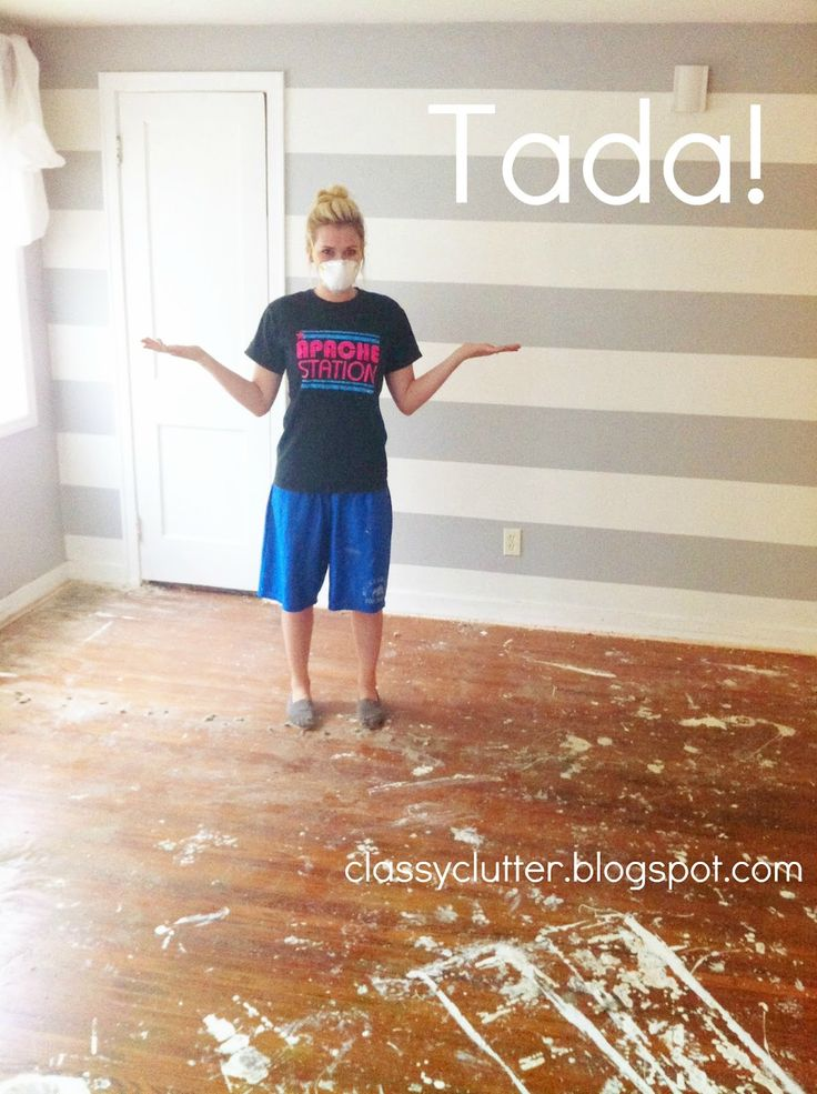 How to remove carpet and refinish wood floors: PART 1 - Classy Clutter