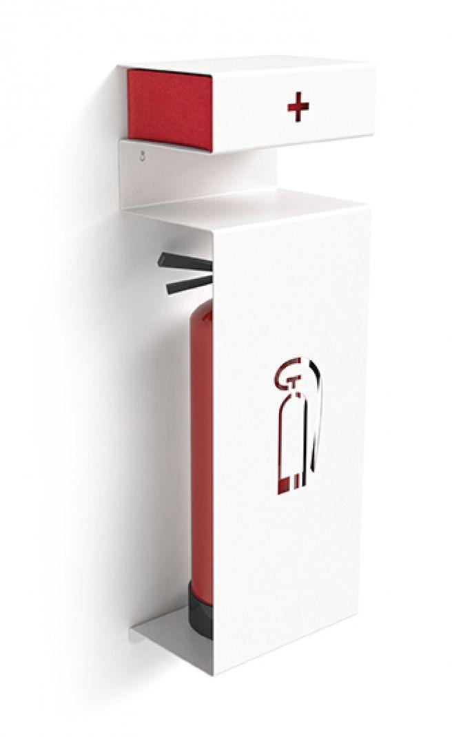 Veiligheid in huis of op kantoor is belangrijk. Helaas siert een brandblusser je interieur meestal niet. Daar is nu iets op gevonden.