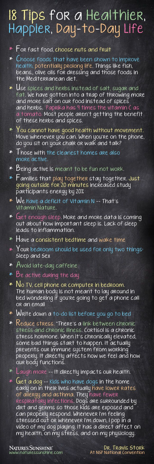 Dr. Travis Storks 18 Simple Tips For a Healthier, Happier, Day-to-Day Life [Image]