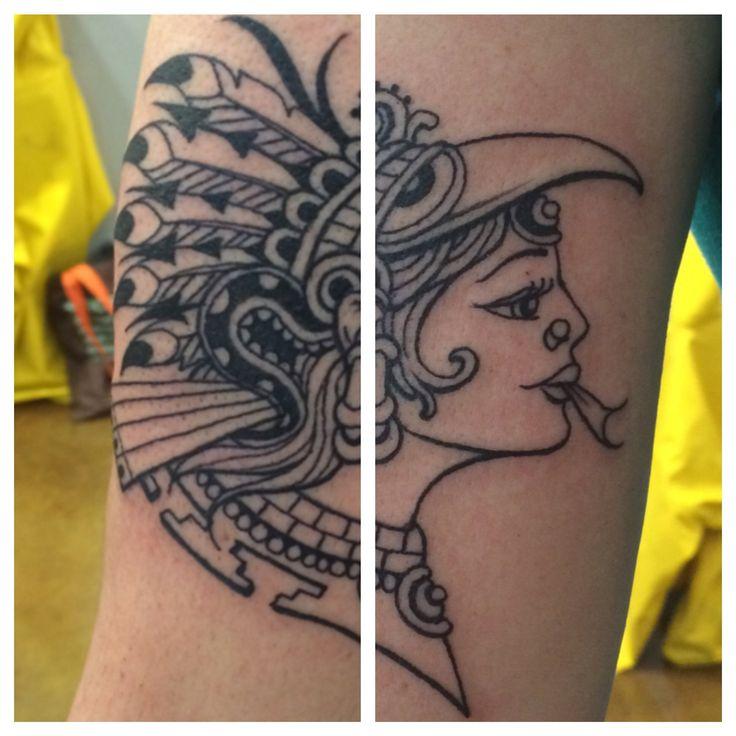 Tattoo of the Aztec goddess Xochiquetzal. | Kris Smith ...