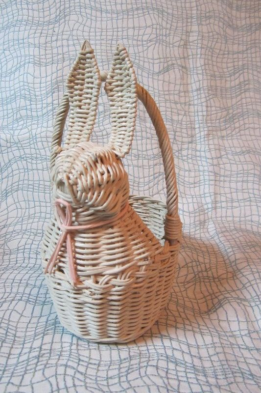 White Rabbit Woven Basket