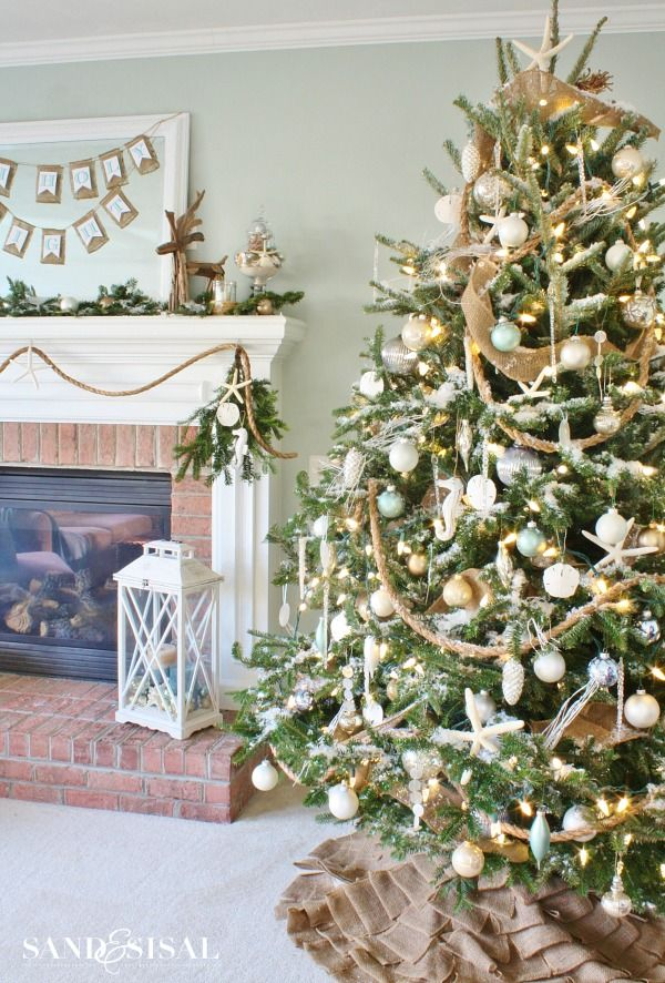 136 best Christmas images on Pinterest Xmas, Beach ornaments and - coastal christmas decorations