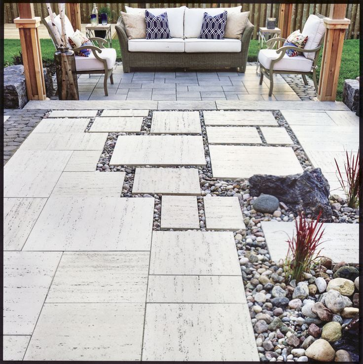 Backyard Patio Techo Bloc Travertina - Google Search Backyard Patio ...