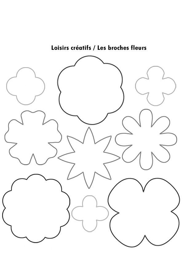 visuel modele fleurs a decouper (avec images) | Gabarit fleur, Dessin de fleur, Fleurs en papier