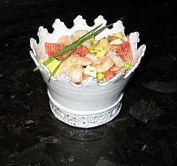 Salade pamplemousse avocat crevette