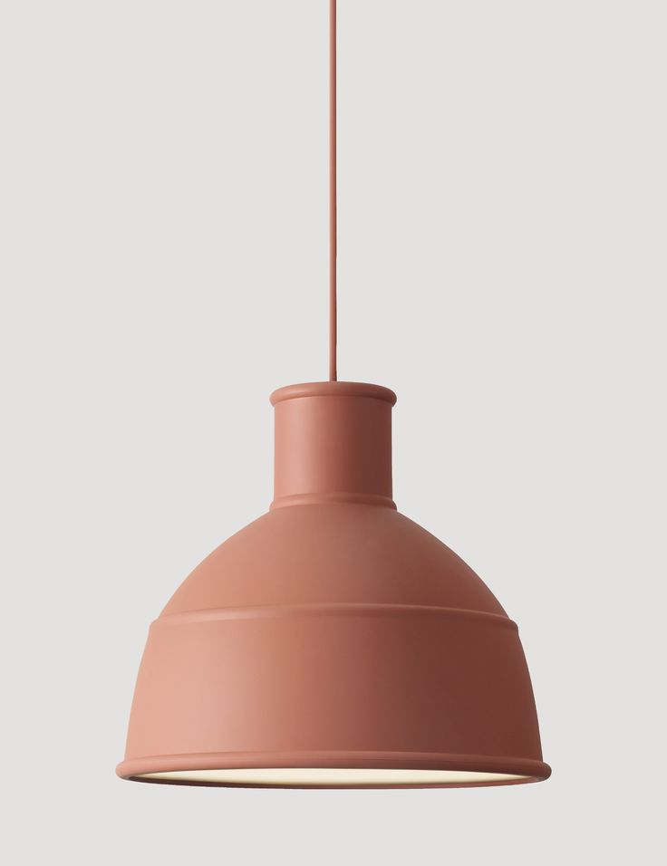 UNFOLD's soft silicon rubber shade creates a unique and playful take on the classic industry lamp design. Designed by Form Us With Love Here in the color Terracotta #muuto #muutodesign