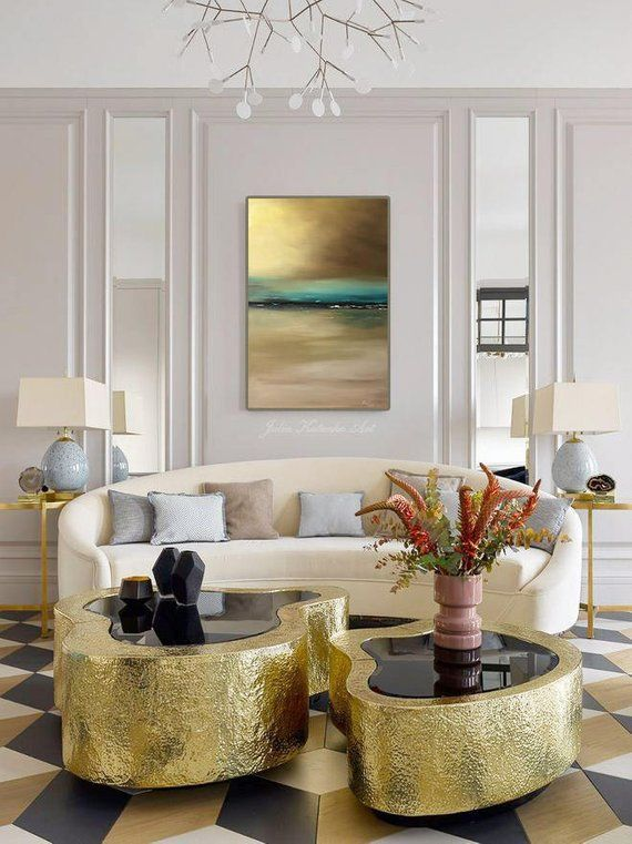 Abstract Art Landscape Oil Painting On Canvas Original