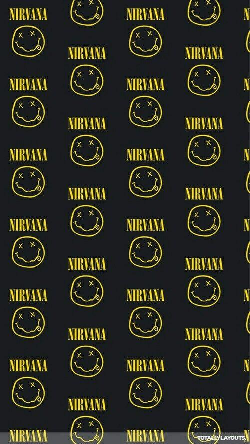 nirvana logo wallpaper hd iphone