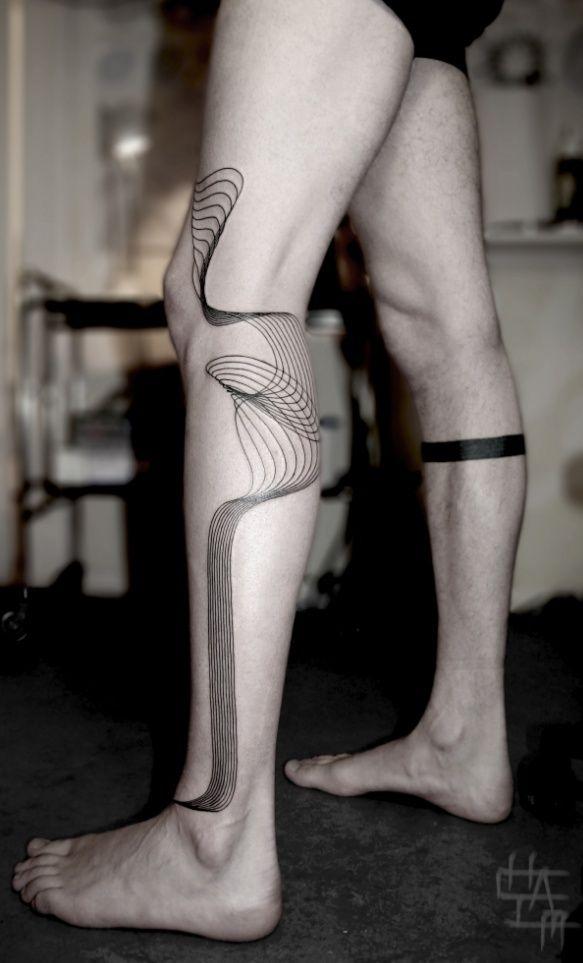 pretty leg tattoo