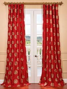 Half Price Drapes Zen Garden Tango Embroidered Fau…