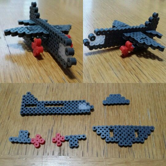 Perler beads, Army plane, 3D, boy.  This one was created by my 9 yo Son.  check out the link to my Etsy store for more great crafts.