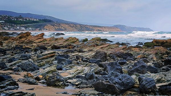 Rocky California Beach - Joan carroll   #rocky #beach #california #crystalcove #ocean #pacific #pacificocean