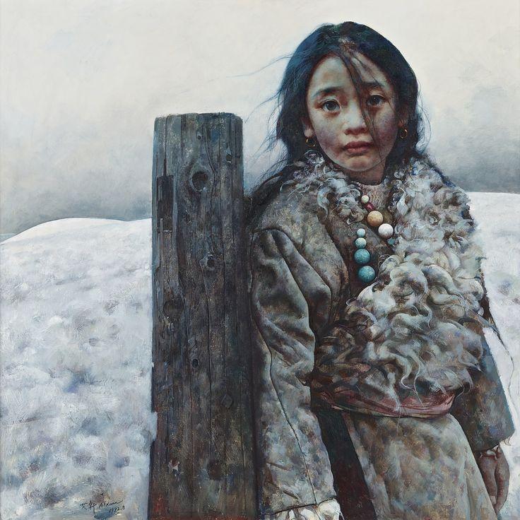 Ai Xuan, Tibetan Girl (800-1.2m RMB) 3.3m RMB