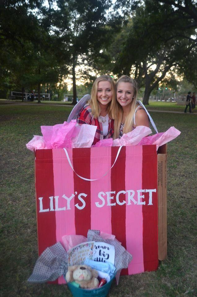 Victoria's Secret big/little reveal box // so creative!
