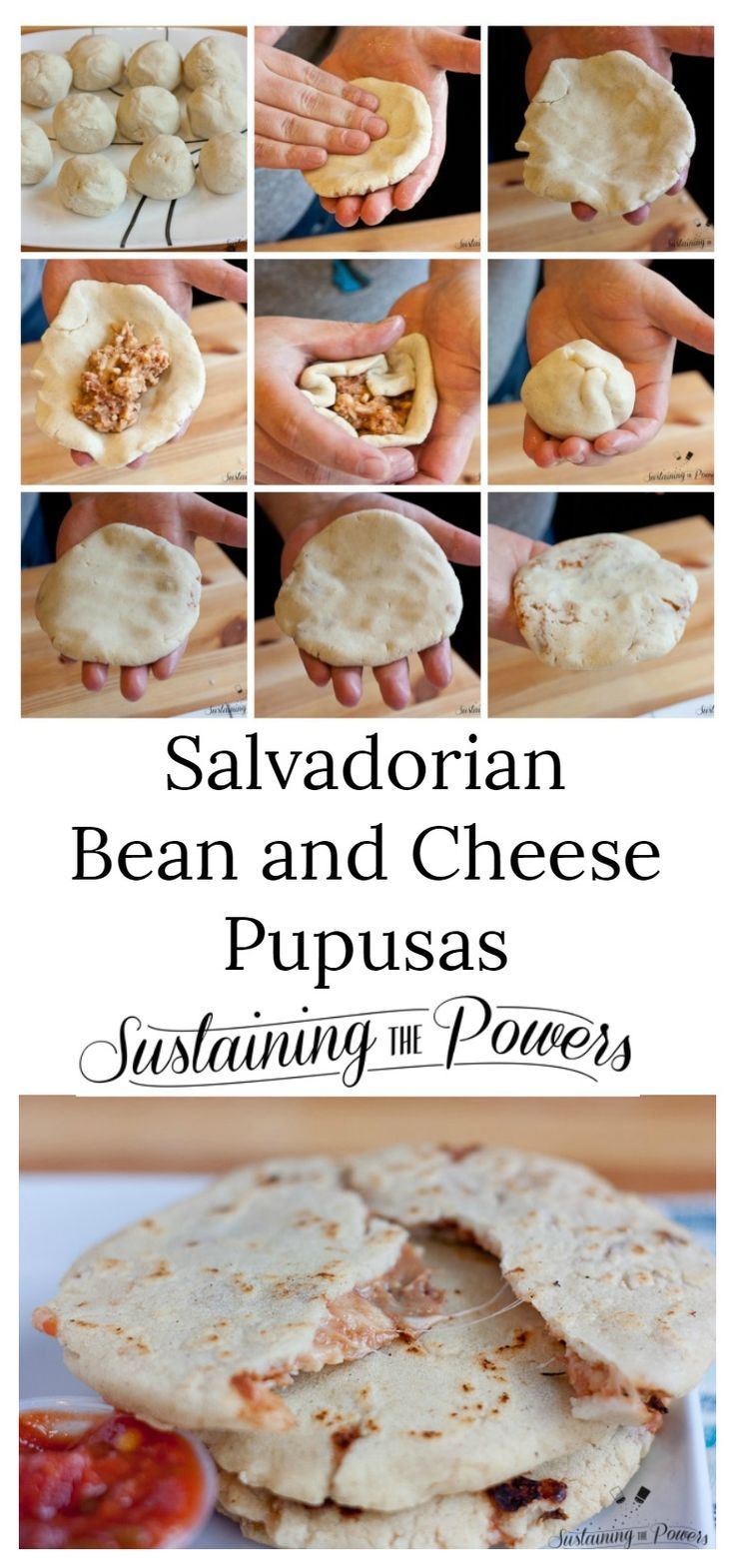 These look yummy and I'm so excited they're gluten-free! Salvadorean Pupusas are pillowy bean and cheese-stuffed corn tortillas.