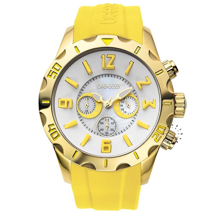 BREEZE Multicolor Yellow Rubber Strap Τιμή Προσφοράς: 145€ http://www.oroloi.gr/product_info.php?products_id=30509