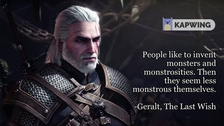 witcher - I raise you my quote in 2020   The witcher books, Movie quotes, The last wish
