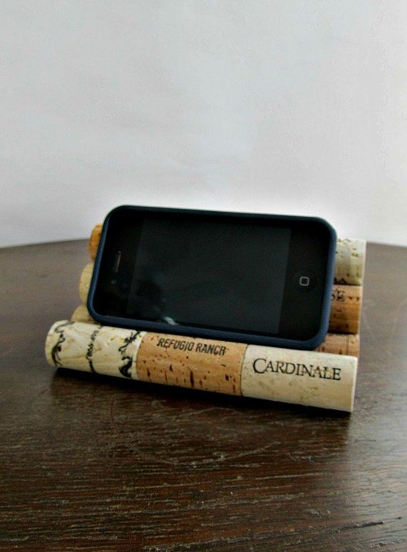 Wine Cork Smart Phone / Tablet Stand / Holder - Desk Accessory, Office Decor, Storage, Organization