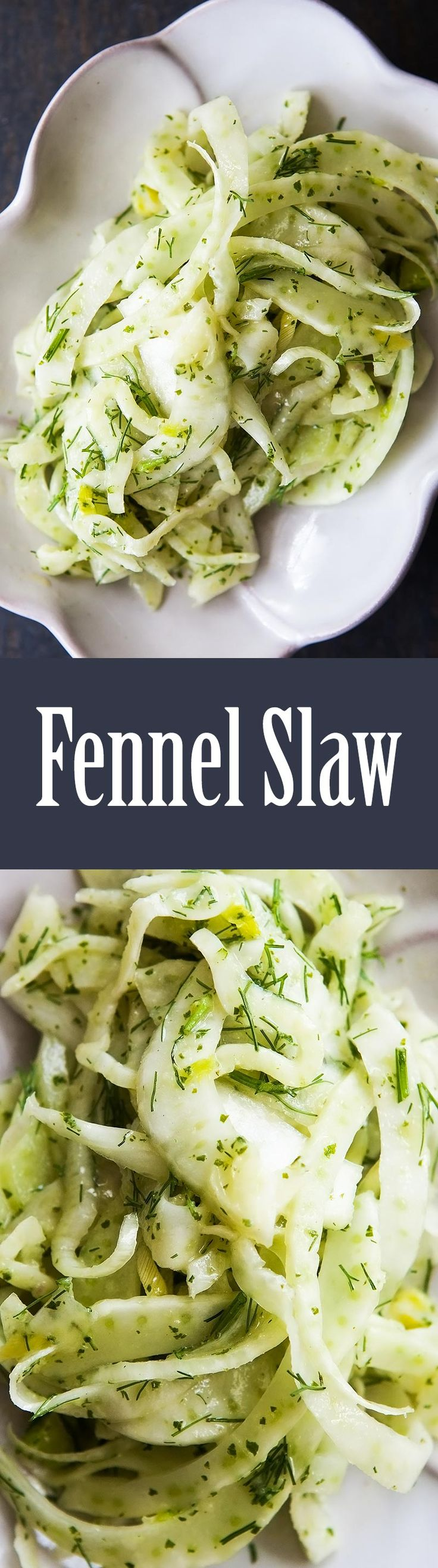 Fennel Slaw with Mint Vinaigrette | Recipe | Fennel Salad, Fennel and ...