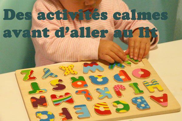 Des activités pour les enfants , parfaites avant d'aller au lit | La cabane à idées