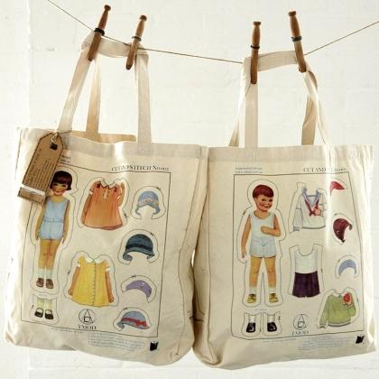 'Paper Doll' Bag - help Rosie & Robbie decide what to wear