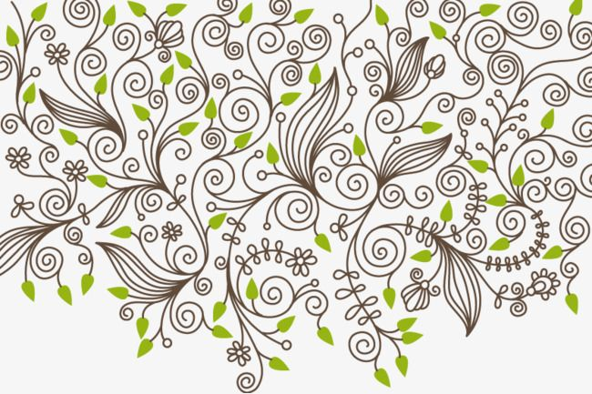 Vector,Plant pattern,material,Grain,lace,Green leaf shading