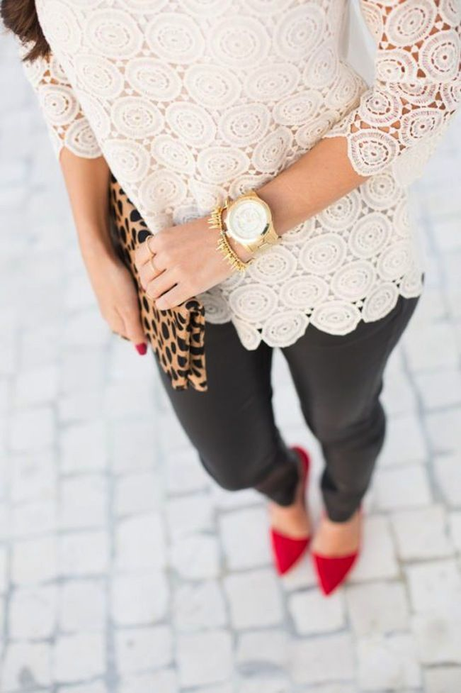 Lace, leather, and Leopard.