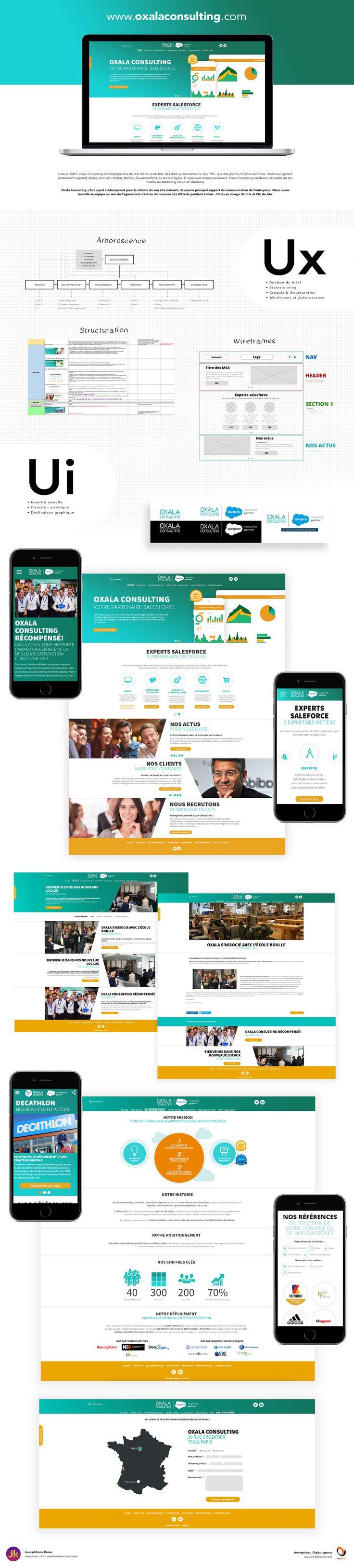 Ui Ux Design du site Oxala Consulting