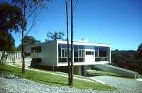 """Modern Australian Residential Architecture  Rose Seidler House by architect Harry Seidler 1948 - 1950.  """"Modernistic features, minimal colour scheme, open plan living"""".  From http://australia.gov.au/about-australia/australian-story/modern-austn-residential-architecture#"""