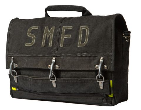 HERO Laptop Bag made out of a recycled turnout gear jacket | Shared by LION