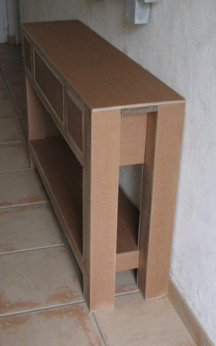 Cardboard furniture techniques how to achieve strength growing up - Bonsoir Voici La Console Termin E Plus Que Les Finitions Dans L Ordre Pon Age Consolescardboard Furniturecardboard