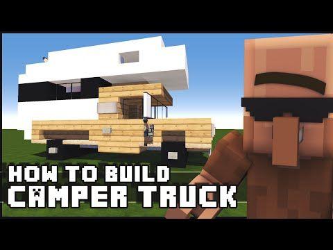 Minecraft Vehicle Tutorial – How to Build : Camper Truck   Minecraft Tech