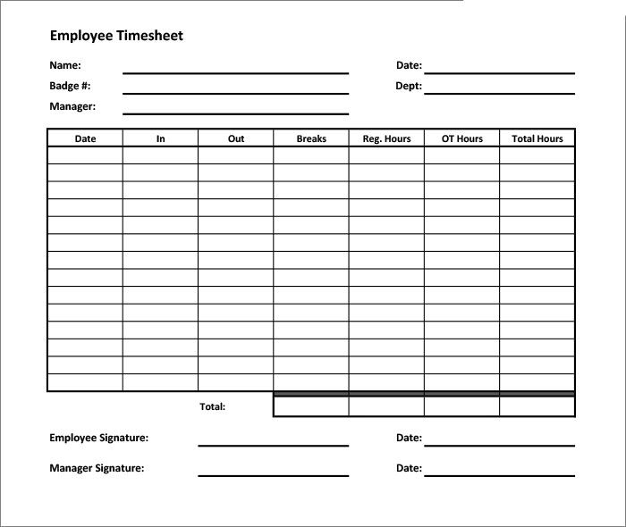 Image result for timesheet template