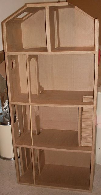 how to make a cardboard dollhouse furniture