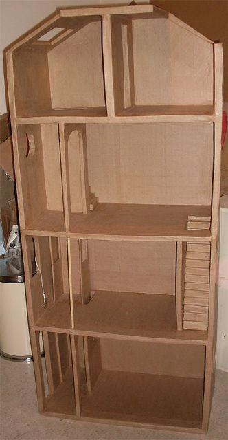 how to make a cardboard dollhouse furniture