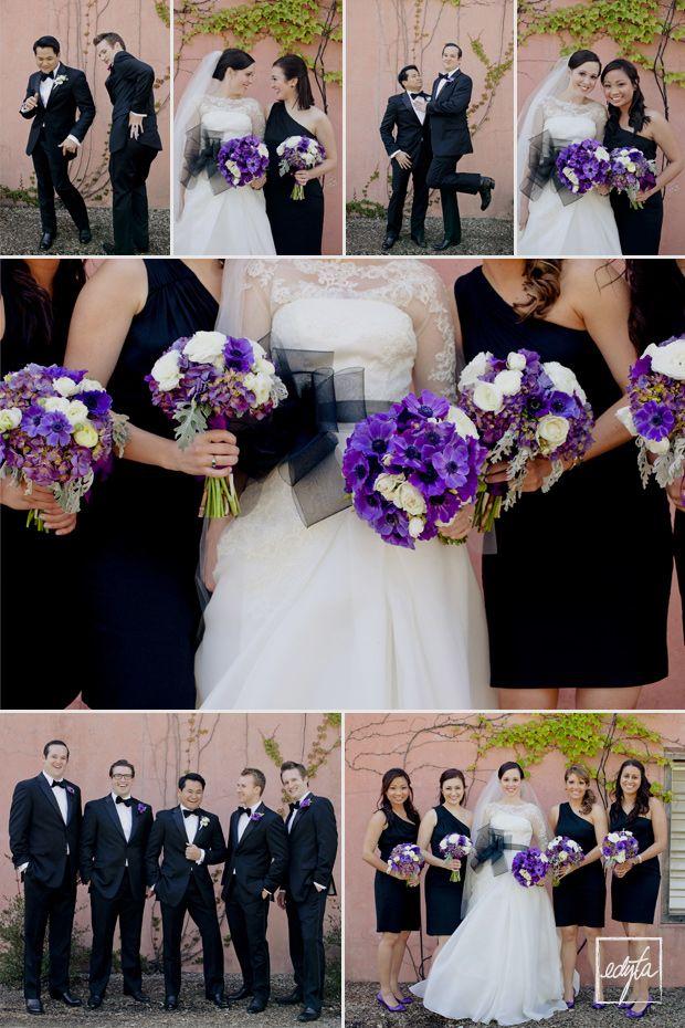 purple black white wedding @April Cochran-Smith Cochran-Smith Cochran-Smith Uplinger This girl is marrying an asian too!!!