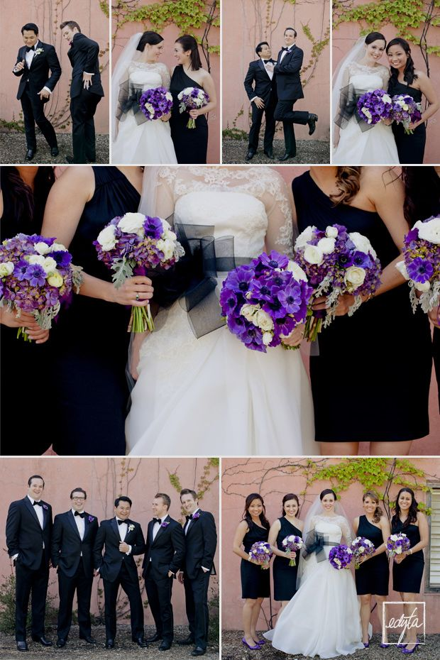 purple black white wedding @April Cochran-Smith Uplinger This girl is marrying an asian too!!!