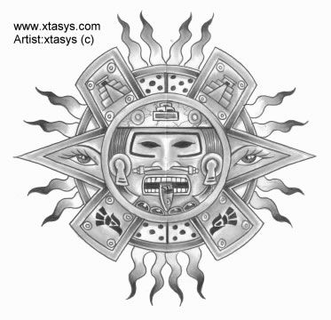 22 best aztec sun tattoos tribal images on pinterest aztec tribal tattoos aztec tattoo. Black Bedroom Furniture Sets. Home Design Ideas